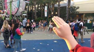 Small Hand High Fives Outside at VidCon - #VidConUS