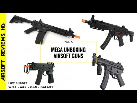 Unboxing WELL SCORPION GALAXY MP5k A&K LR 300 G&G MP5A4 RIS Reviews