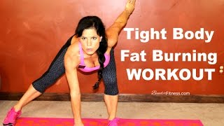 Tight Body Fat Burner: Home Workout: HIIT 15 Minutes Per Round