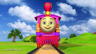 Engine Engine Number 9  - 3D Animation English Nursery rhyme for children
