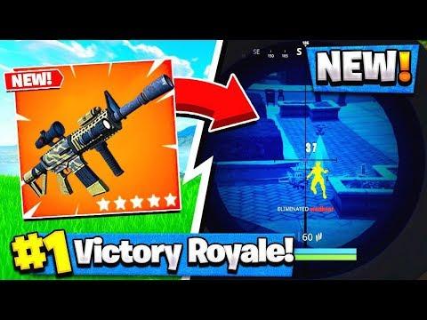 NEW Fortnite THERMAL SCOPED AR GAMEPLAY Fortnite Battle Royale
