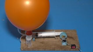 How to make electric air pump using Syringe