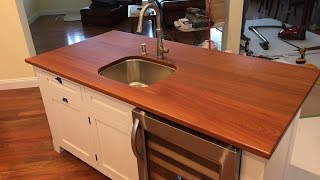 Installing a Kitchen Sink and Wooden Threshold