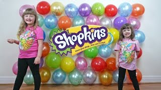 Shopkins Season 4 BALLOON POPPING Challenge Show Fun Videos for Kids Balloon Game ToyCollectorDisney