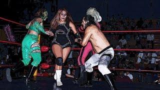 Neza Kid, Faby Apache y Aerostar vs Hiedra, Super Fly y Machine Rocker