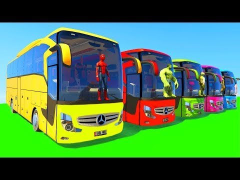 Xxx Mp4 Learn Colors Big Bus For Children Kids Fun Cartoon Animation With Nursery Rhymes Song 3gp Sex