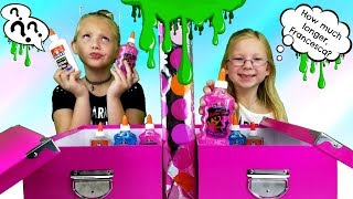 MYSTERY BOX OF SLIME TWIN TELEPATHY CHALLENGE!!!