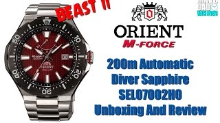 Any Good? | Orient M-Force Beast II 200m Automatic Diver Sapphire SEL07002H0 Unbox & Review