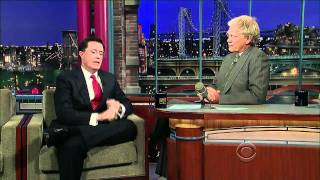 Stephen Colbert on Letterman (10/7/10)