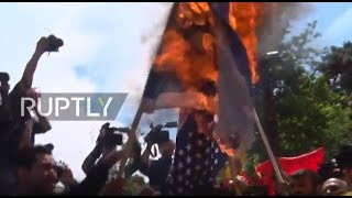 Iran: Protesters burn US, Israeli flags in pro-Palestine rally in Tehran