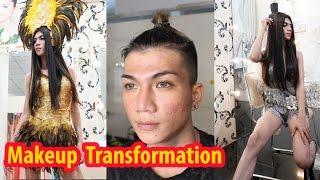 Victoria's Secret Fashion Show Inspired Makeup Transformation Boy To Girl