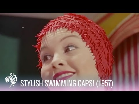 Swimming Cap Fashions 1950s
