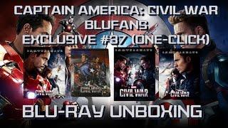 Captain America: Civil War - Blufans Exclusive #37 - ONE CLICK - (FULL SLIP, LENTICULAR, 1/4 SLIP)