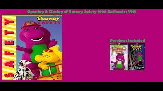 Barney Safety 1999 Actimates VHS Opening & Closing