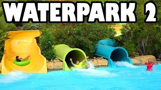 Water Park Challenge at Aquatica: Water Slides, Lazy River Race & Ice Bucket. Totally TV