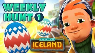 🐣 Subway Surfers Weekly Hunt - Collecting Easter Eggs in Iceland (Week 1)