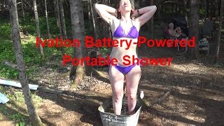 Ivation Battery-Powered Portable Shower