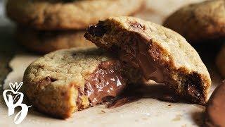 كوكيز نوتيلا هش ولذيذ | Nutella Stuffed Cookies