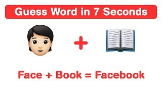 7 Second Riddles Emoji | Guess English Phrase from Emoticons