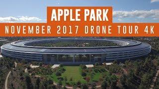 APPLE PARK November 2017 Drone Update 4K