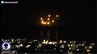 MASS Sighting Of Strange UFO Light Swarm Off Pacific Coast! 4/19/16
