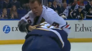 Jonathan Toews vs David Backes After Hit on Hjalmarsson