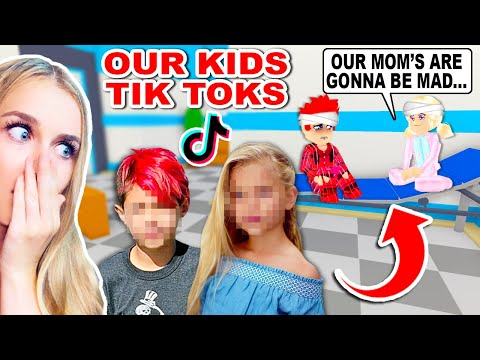 REACTING To Our KIDS TIKTOKS That Ended Them Up In A HOSPITAL In Adopt Me Roblox