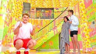 WORLDS BIGGEST STICKY NOTE PRANK {TEAM 10 MANSION}