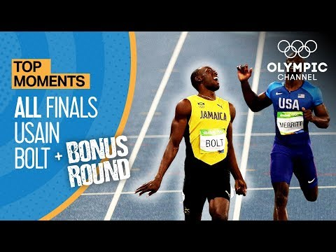Usain Bolt ALL Olympic finals Bonus round Top Moments