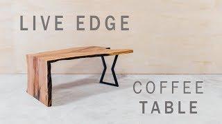 Modern Live Edge Waterfall Coffee Table Build