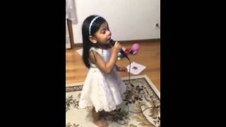 Little Girl singing You raise me up