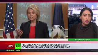 'Kremlin agents': State Dept spokeswoman Nauert refuses to take journalists' questions