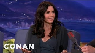 "Courteney Cox Will Show More Boob On ""Cougar Town"" - CONAN on TBS"