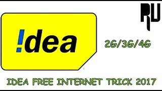 idea free internet 2017 | idea tricks | idea internet tips |  hindi