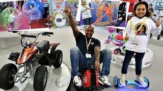 A Lot Of Toys! London Toy Fair - Hoverboard  - Family Fun Games - Surprise Toys For Kids