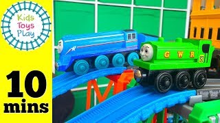 Thomas and Friends Wooden Railway Train Races | Thomas Train Tanks VS Tenders Super Station Speedway