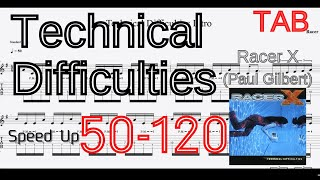 【Speed up】 Technical Difficulties Intro - Racer X BPM50-125