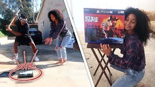 Destroying My Girl Duos Partner's ONLY PS4 & Surprising Her w/ A BRAND NEW ONE!!!