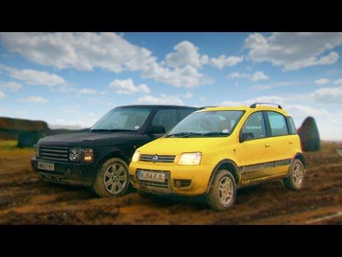 Fiat Panda 4x4 vs Range Rover Fifth Gear