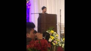 Speech of Nay Senda during the Graduation Ball 2015