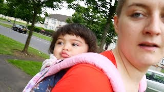 Babywearing my 15 month old to breastfeeding class! Vlog Ep. 159