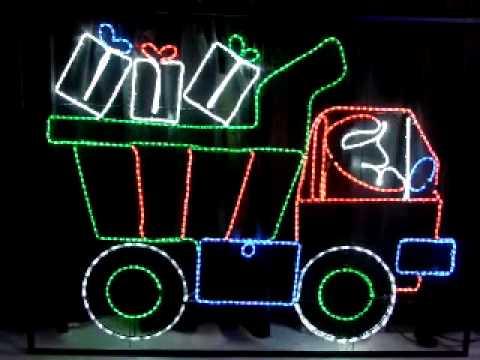 Santa on Truck - www.flexilight.co.nz