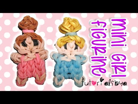 Cute Mini Baby Girl Person Charm / Figurine Rainbow Loom Tutorial | How To
