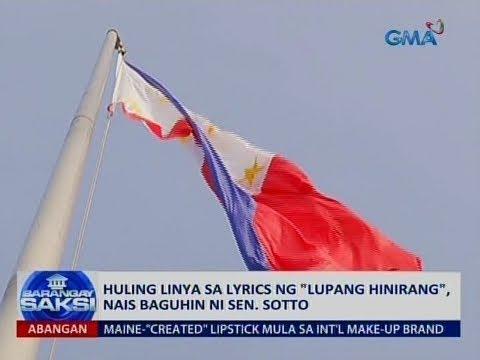 Xxx Mp4 Saksi Huling Linya Sa Lyrics Ng Lupang Hinirang Nais Baguhin Ni Sen Sotto 3gp Sex
