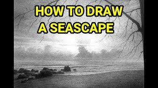 Learn How To Draw A Seascape Using Graphite Powder & Pencils