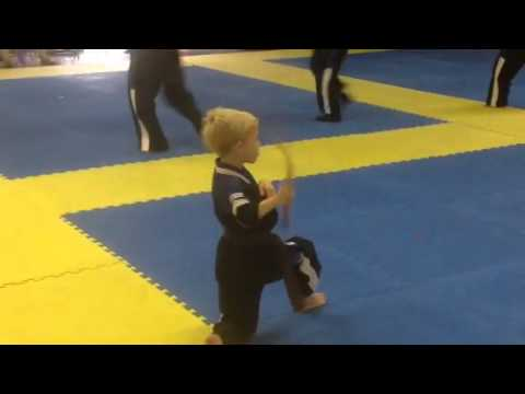 Ethan's Brown Belt Test 2014, Chase Kata