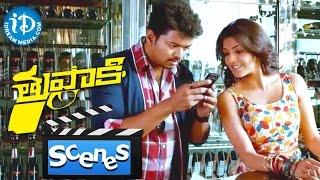 Thuppakki Movie - Kajal Aggarwal Fooling Jayaram || Comedy Scene || Murugadoss