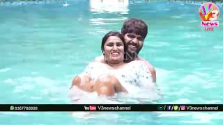 Swathi Naidu Swimming in Goa || V3 News Live