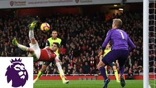 Lucas Torreira's overhead kick puts Arsenal in front v. Huddersfield | Premier League | NBC Sports