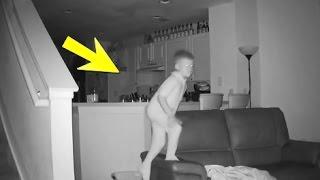 لاحظ الأب أن الأبن يستيقظ كل يوم وهو متعب وعندما راقبه بكاميرا مراقبة .. أنظرو ماذا إكتشف